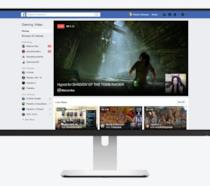 Schermata dell'hub gaming di Facebook