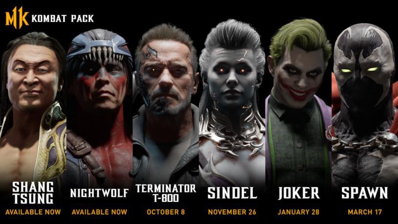 I personaggi di Mortal Kombat 11 inclusi nel Kombat Pack