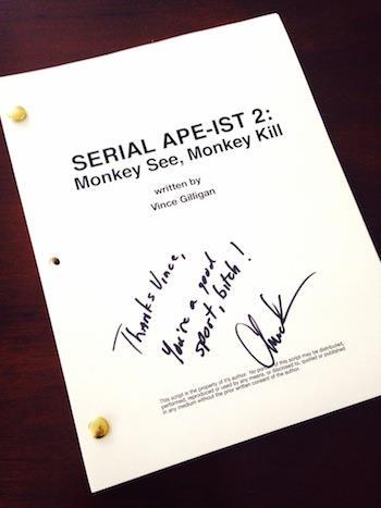 La sceneggiatura del sequel di Serial Ape-Ist