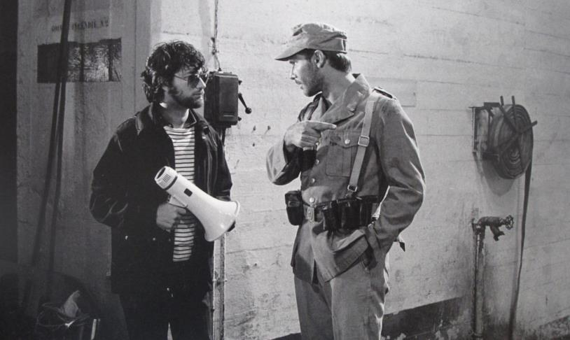 Steven Spielberg e Harrison Ford sul set del film