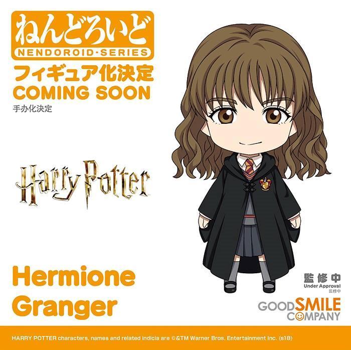 Il Nendoroid di Hermione Granger in una concept art