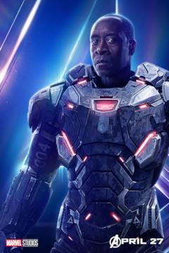 Il poster del personaggio di War Machine