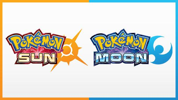 I due loghi ufficiali di Pokémon Sole e Pokémon Luna