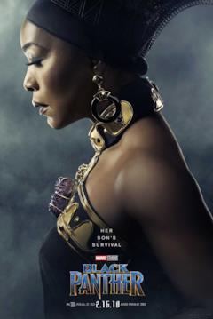 Angela Bassee è Ramonda nel character poster del film Black Panther