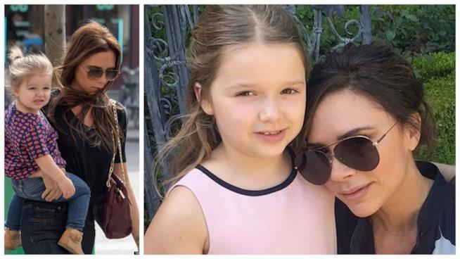 Victoria Beckham con la figlia Harper