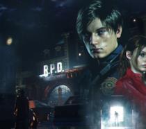 Leon S. Kennedy e Claire Redfield, protagonisti di Resident Evil 2