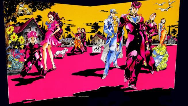 Tutto il cast di personaggi del quarto arco narrativo del manga Le Bizzarre Avventure di Jojo