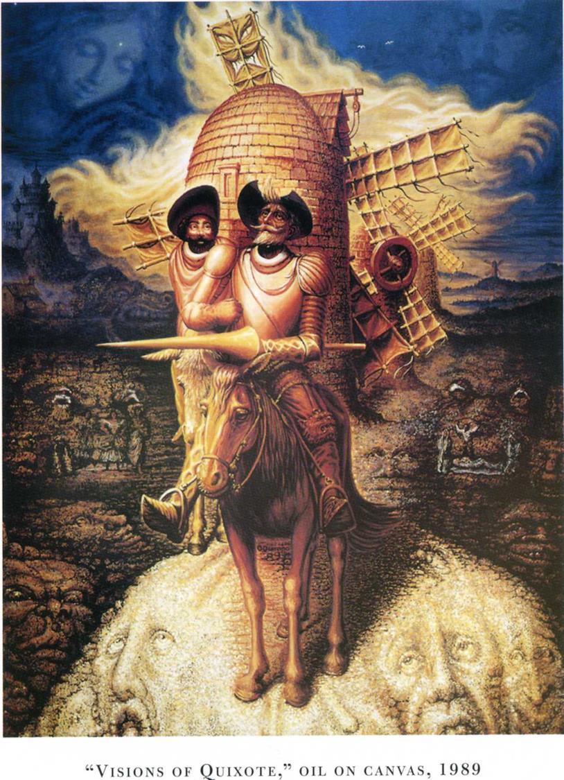 Don Chisciotte in versione surrealista