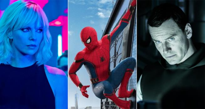Atomic Blonde, Spider-Man: Homecoming e Alien: Covenant