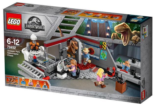 Dettagli del box del set di LEGO Inseguimento del Velociraptor a Jurassic Park