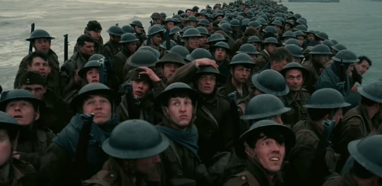 Una scena dal film Dunkirk, il war-movie di Christopher Nolan