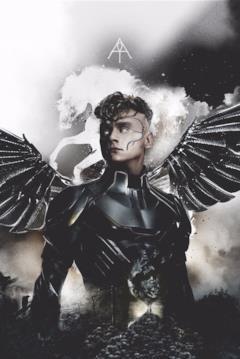 Angelo nel poster dedicato ai 4 cavalieri di Apocalisse