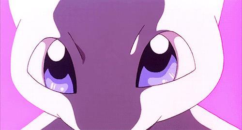 Il tenero Pokémon Mew in una GIF