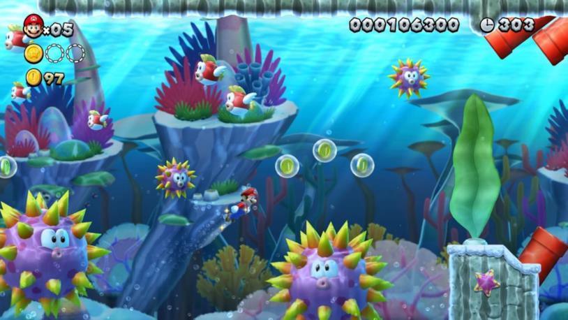 Uno dei livelli di New Super Mario Bros. U Deluxe