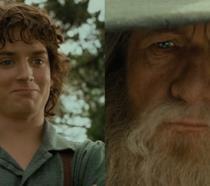 Frodo e Gandalf in il Signore degli Anelli - La Compagnia dell'Anello
