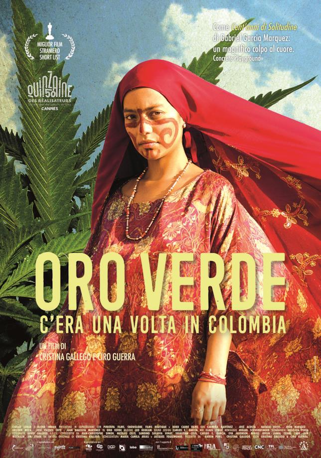 Il poster italiano del film Oro Verde - C'era una volta in Colombia