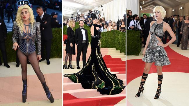 Lady Gaga, Katy Perry e Taylor Swift al Met Gala 2016