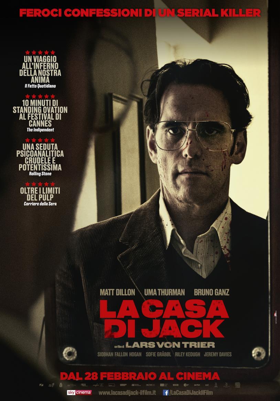 Matt Dillon nel poster italiano de La casa di Jack di Lars von Trier