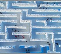 Fotogallery del labirinto di neve a Snowlandia in Polonia