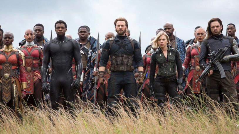Gli Avengers in Wakanda in Avengers: Infinity War