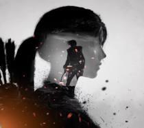 Il profilo di Lara Croft nella cover ufficiale di Rise of the Tomb Raider