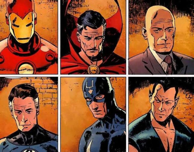 Iron Man, Doctor Strange, Professor X, Mister Fantastic, Freccia Nera e Namor: gli Illuminati