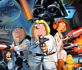 I Griffin nella parodia di Star Wars