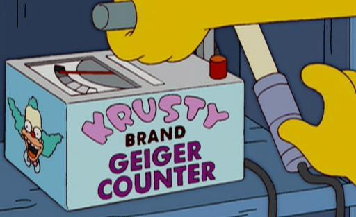 I Simpson, il contatore geiger di Krusty