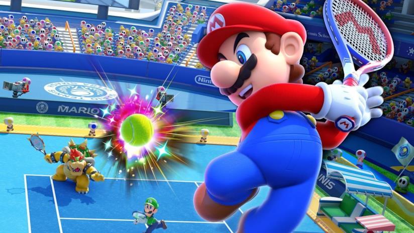 Super Mario torna sui campi da tennis con Mario Tennis Aces