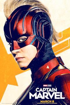 Captain Marvel con l'elmetto nel nuovo poster di febbraio 2019