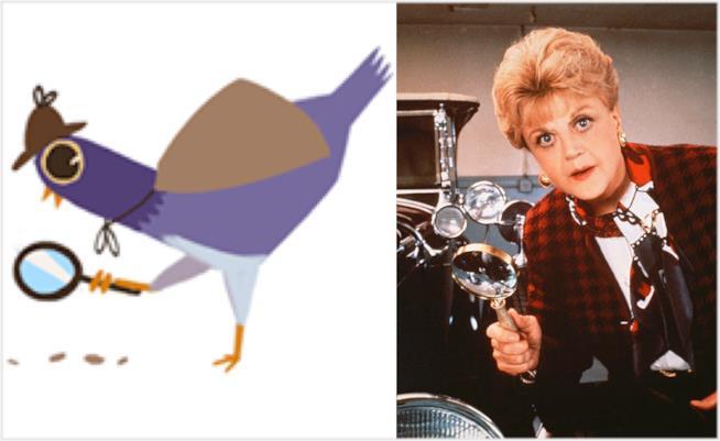 Il piccione viola e Jessica Fletcher