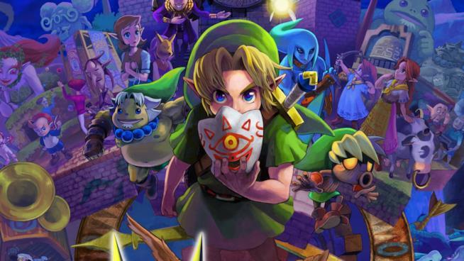 Link sulla cover ufficiale di Majora's Mask