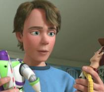 Andy e i suoi amati giocattoli Buzz e Woody