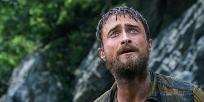 Daniel Radcliffe sconvolto nella giungla