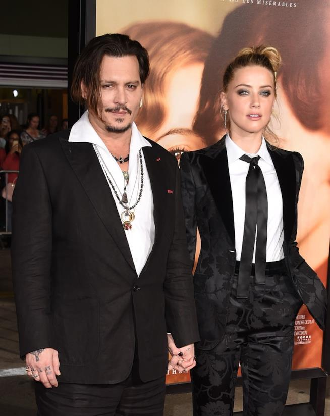 Una vecchia foto di Johnny Depp e Amber Heard