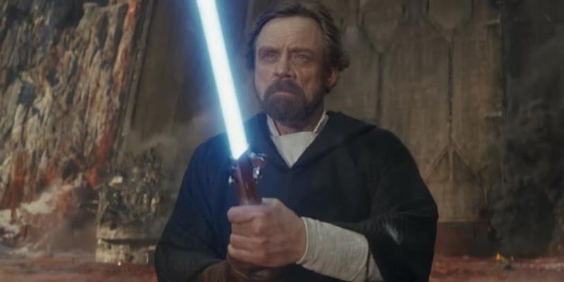 Luke Skywalker in una immagine del film Star Wars: Gli Ultimi Jedi