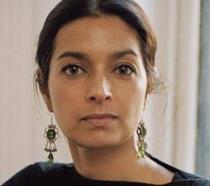 Primo piano della scrittrice Lahiri Jhumpa