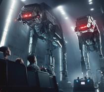Una foto delle esperienze più immersive che si vivranno nel parco Star Wars: Rise of the Resistance