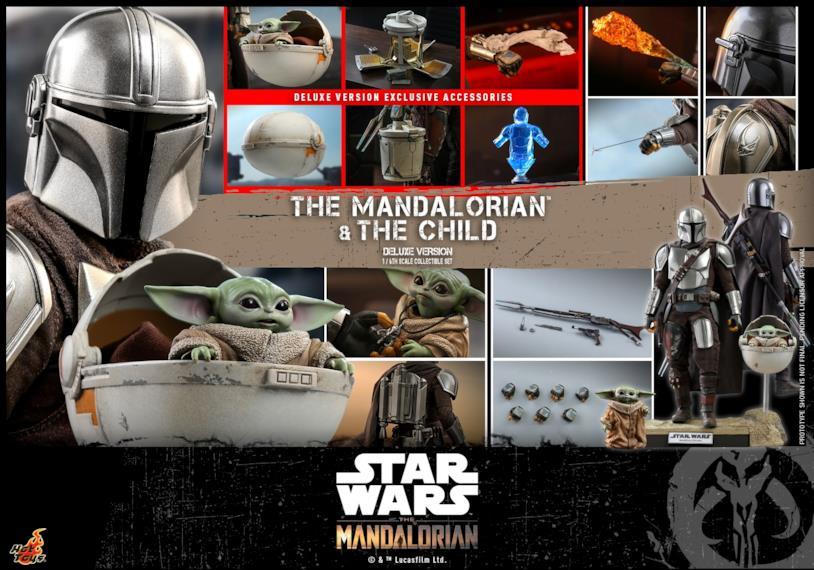 Gli Hot Toys versione deluxe di The Mandalorian