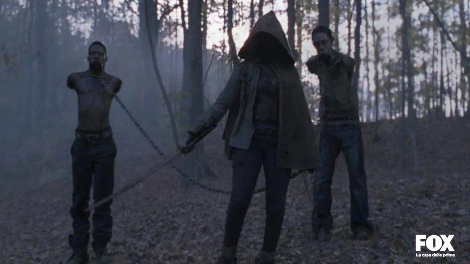 Quando Michonne compare per la prima volta, Danai Gurira non era stata ancora scritturata quindi non è realmente lei.