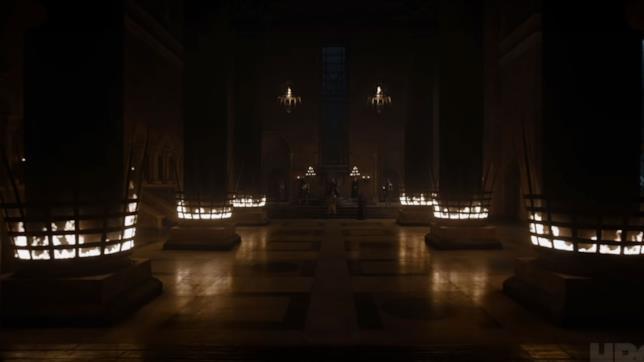 GoT 8: la sala del trono nella Fortezza Rossa