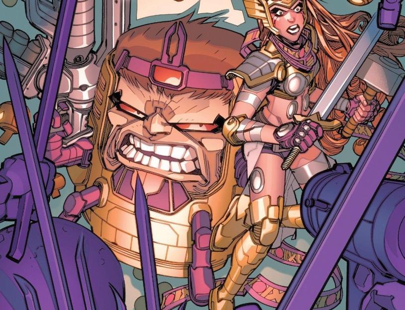 Dettaglio della cover di M.O.D.O.K. Assassin #3