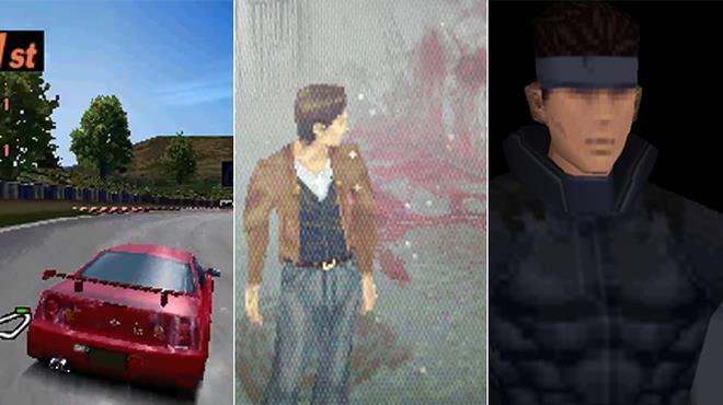 Sequenza di tre giochi di ps1