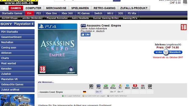 Assassin's Creed Empire in uscita a ottobre?