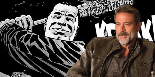 Due Negan a confronto: l'attore Jeffrey Dean Morgan e il personaggio dei fumetti