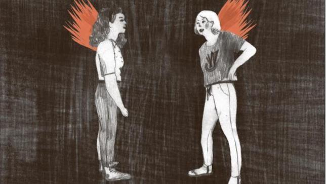 Le protagoniste di Brucia sulla cover del fumetto