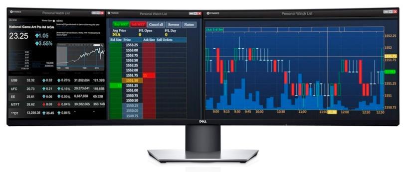 """Immagine stampa del monitor Dell da 49"""""""