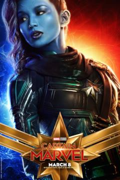 Il character poster di Captain Marvel con Minn-Erva (Gemma Chan)
