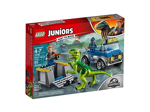 Dettagli del box del set di LEGO Camion per il soccorso di Velociraptor