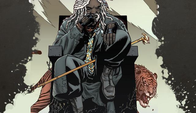 Ezekiel e la tigre Shiva nel numero 108 di The Walking Dead